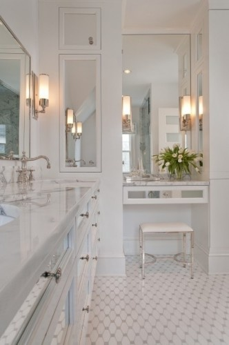 Marble showers on pinterest marble bathrooms cultured marble shower - Good Style Bright White Bathrooms