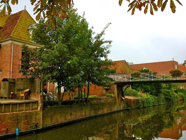 Picture of a bridge over the Damsterdiep. Appingedam, Groningen.