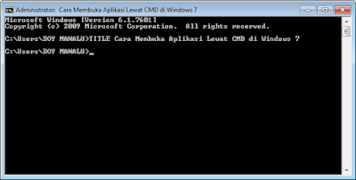 Cara Membuka Program Aplikasi Lewat CMD Windows 7