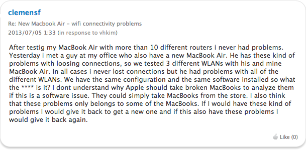 macbook air wifi接続問題