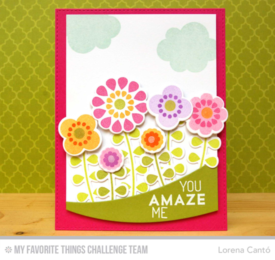 You Amaze Me Card from Lorena Cantó featuring the Buildable Blooms stamp set and Die-namics