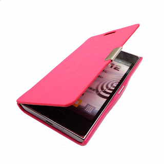 Magnetic Drawing Stripe Leather Flip Full Case Cover For LG E612 Optimus L5