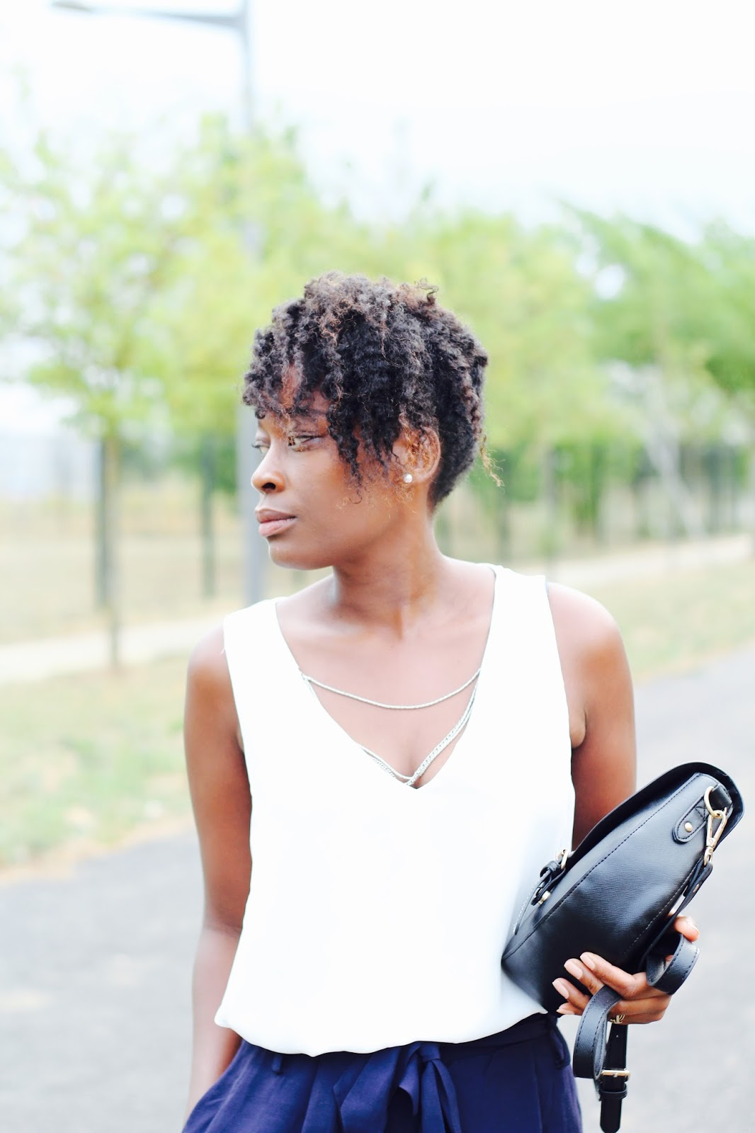 fashion blogger-natural hair-hairstyles-chic-outfit