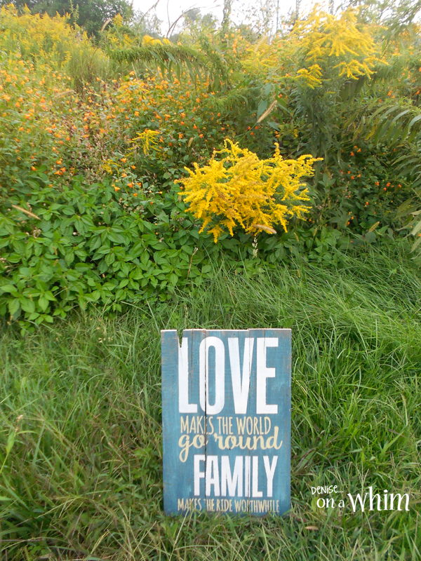 Love and Family Pallet Wood Sign from Denise on a Whim