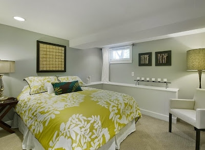basement bedroom paint color ideas