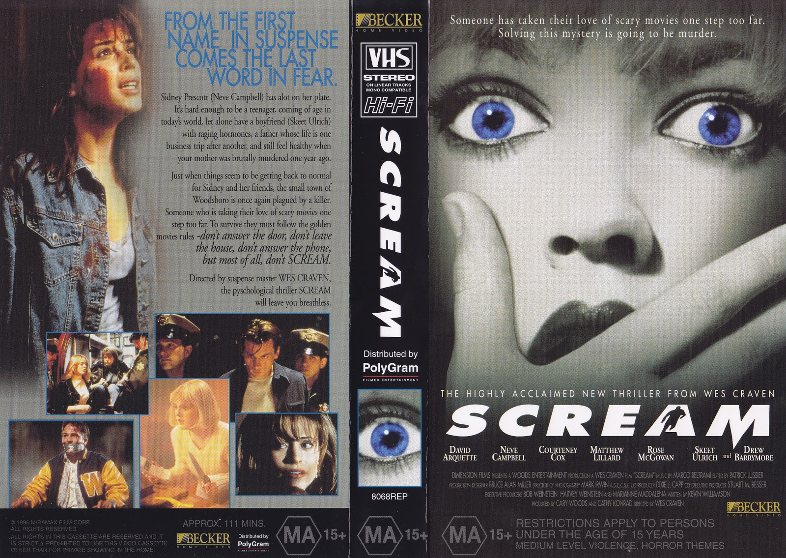 Banned in queensland vhs cover of the day scream 1996 vhs cover of the day scream 1996 sciox Gallery