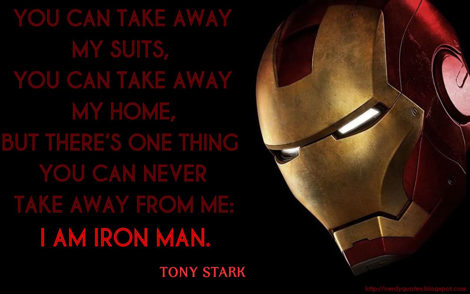 First quote from Iron Man 3 Movie