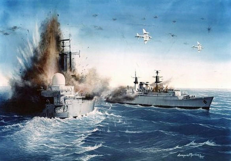 de guerra en la pintura dibujos a color de barcos de guerra paisajes
