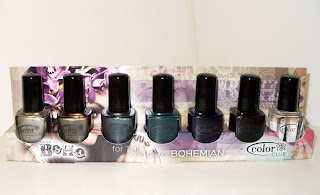 Picture a set of seven polishes from the Back to Boho LE from Color Club