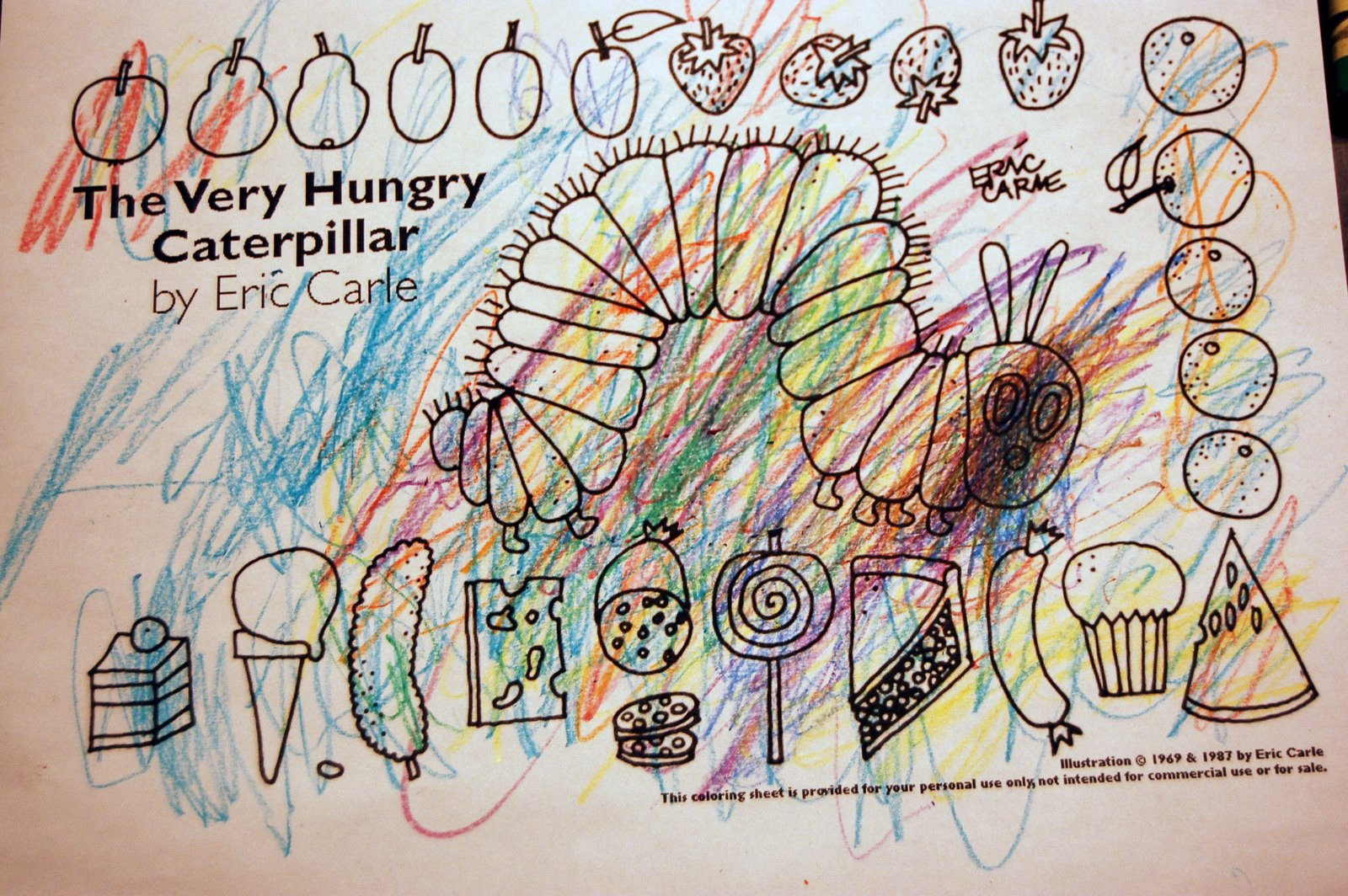 pack snacks very hungry caterpillar coloring pages