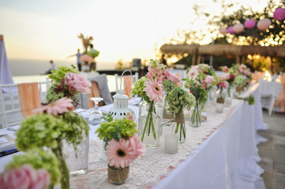 dinner centerpiece long table 3
