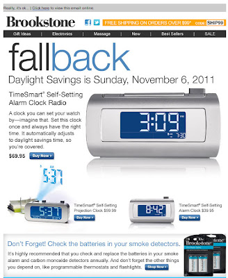 Oct. 25, 2011 Brookstone email