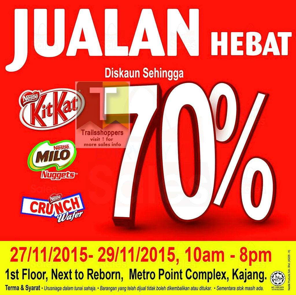 Nestle Kit Kat Milo Malaysia Warehouse sale