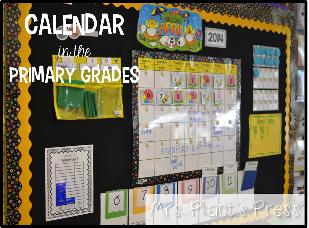 Kindergarten Calendar Time : Calendar in the primary grades press