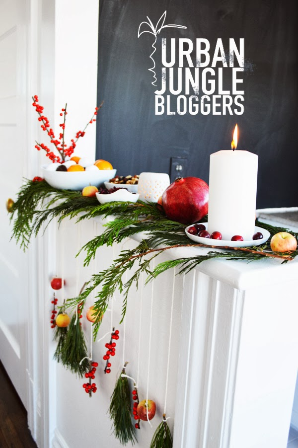 Urban jungle bloggers green festive decoration vignette for Decoration urban jungle