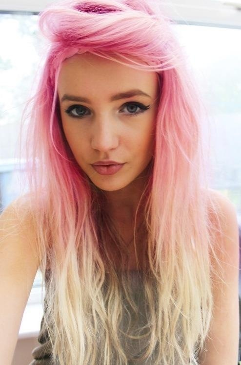 this awesome pink and blond ombre look (see above) or add some pink ...