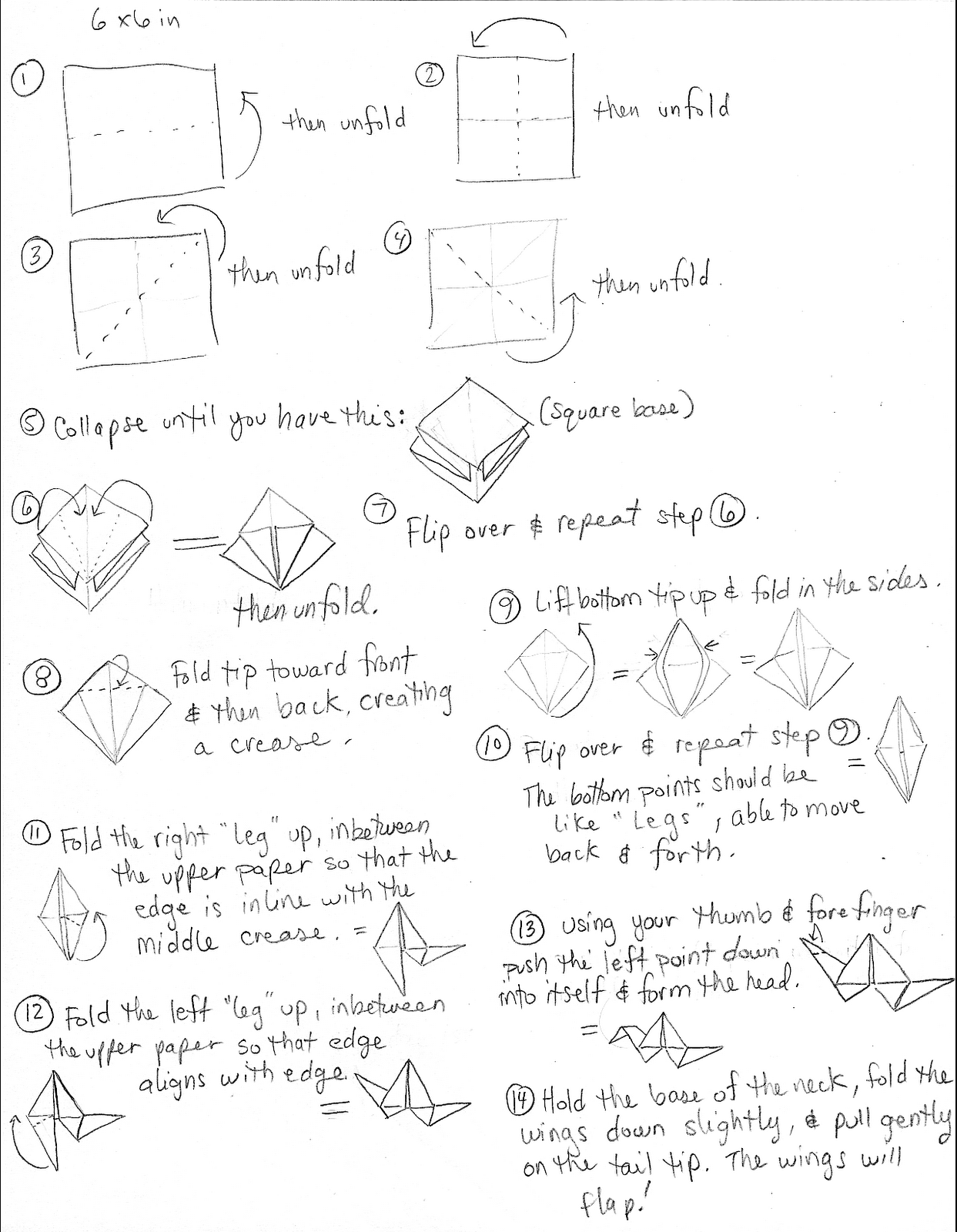 Freedom For Skylark That Flighty Temptress Origami Flapping Bird Instructions Diagram And Video This Heres A Scribbly Instruction Sheet How To Make The I Hope Its Somewhat Understandable Id Love Win Copy Of