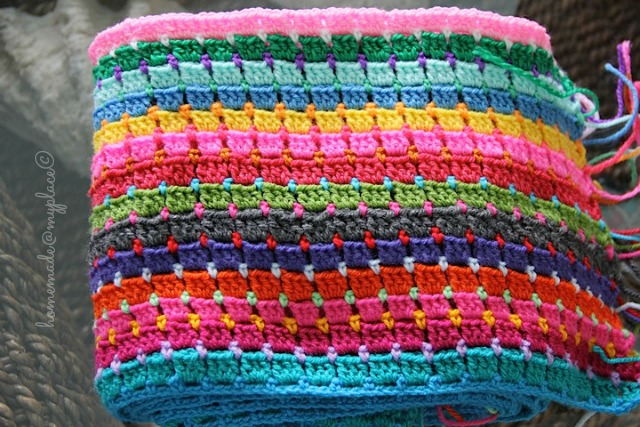 Crochet Patterns Block Afghan : Funky Fabrix: Block Stitch Afghan Free Tutorial and Pattern