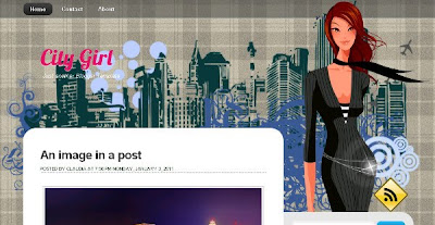 City Girl - Style Theme Blogger Template