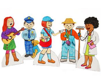Community Helper Paper Dolls