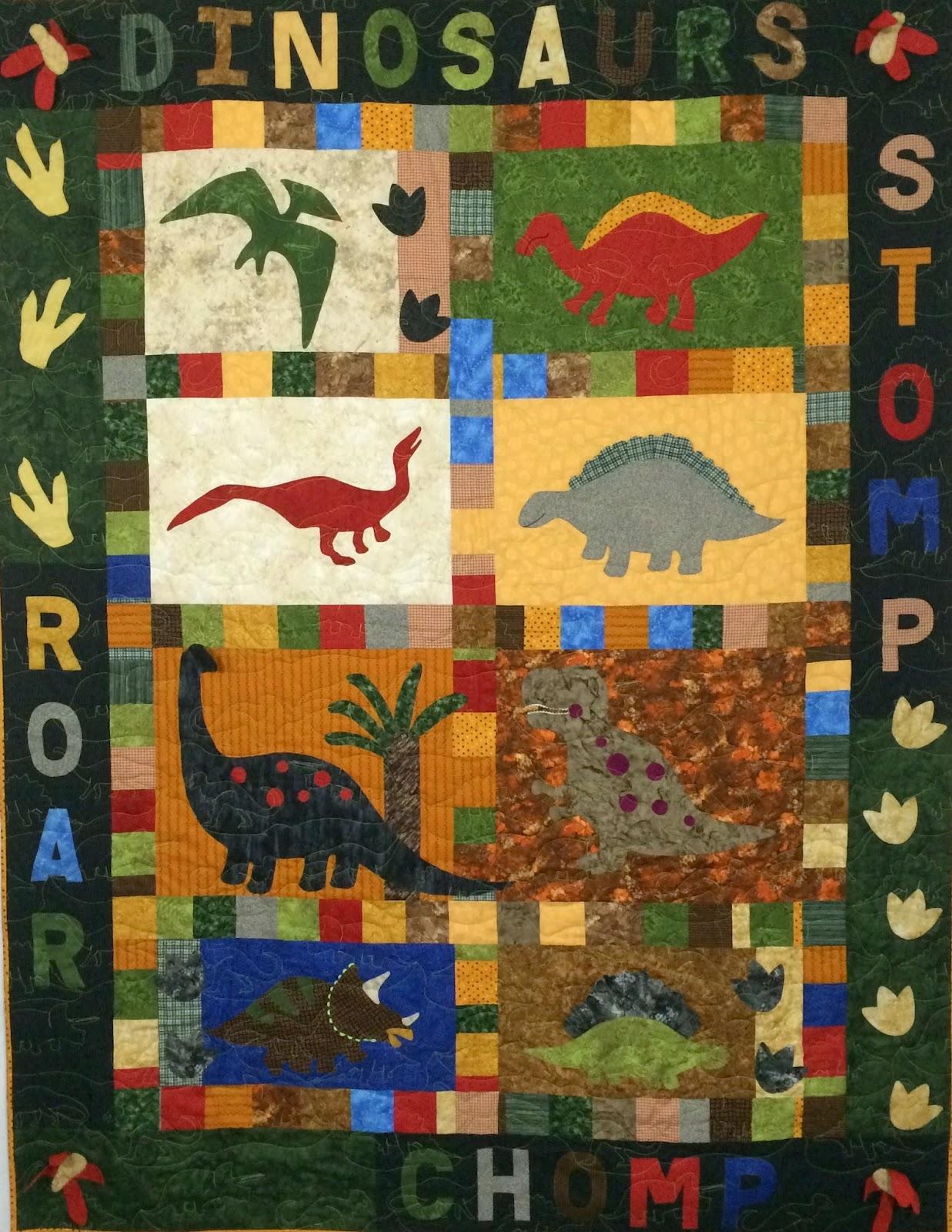Sandy Lyon Dinosaur Quilt