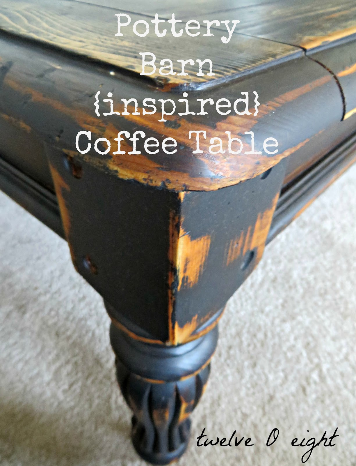 Pottery Barn Inspired Coffee Table twelveOeight