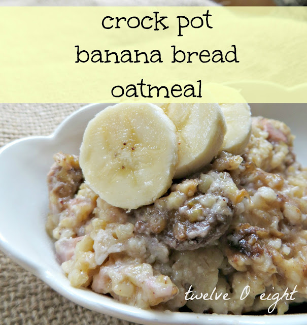 crock pot, slow cooker, breakfast, recipe, banana bread oatmeal ...