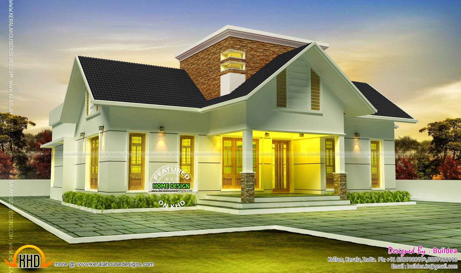 Very beautiful house kerala home design and floor plans for Beautiful architecture houses