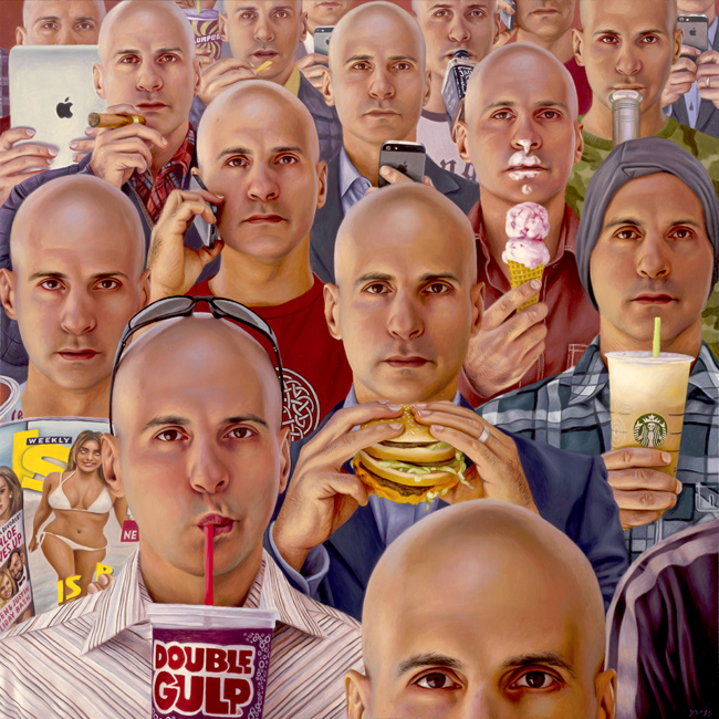 ©Alex Gross - Future Tense | Jonathan LeVine Gallery. Pintura | Painting