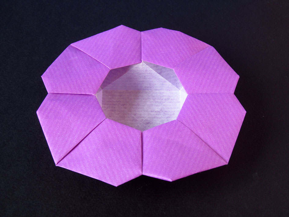 origami poesie di carta scatola a fiore