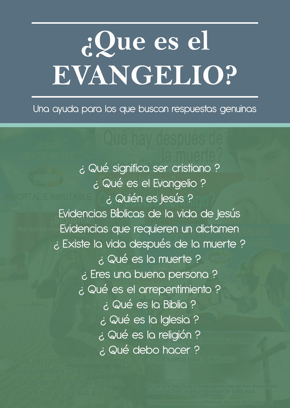¿Que es el EVANGELIO?