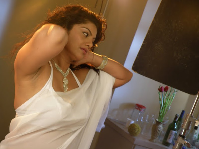 Actress Swathi Verma in White Hot Saree Photos