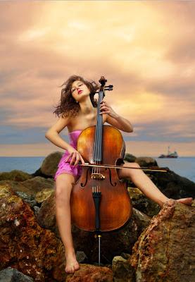 Una hermosa canción de amor con violoncello