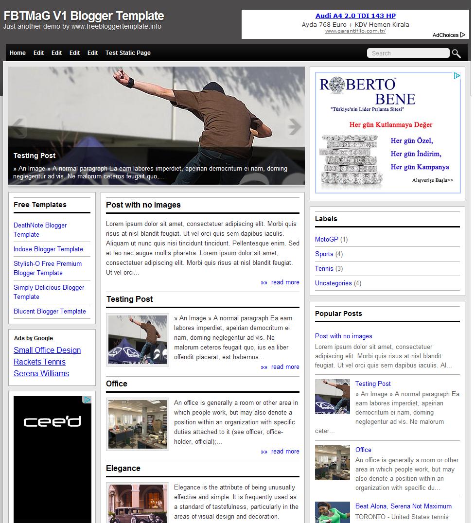 Aerakman v2 kişisel blogger teması
