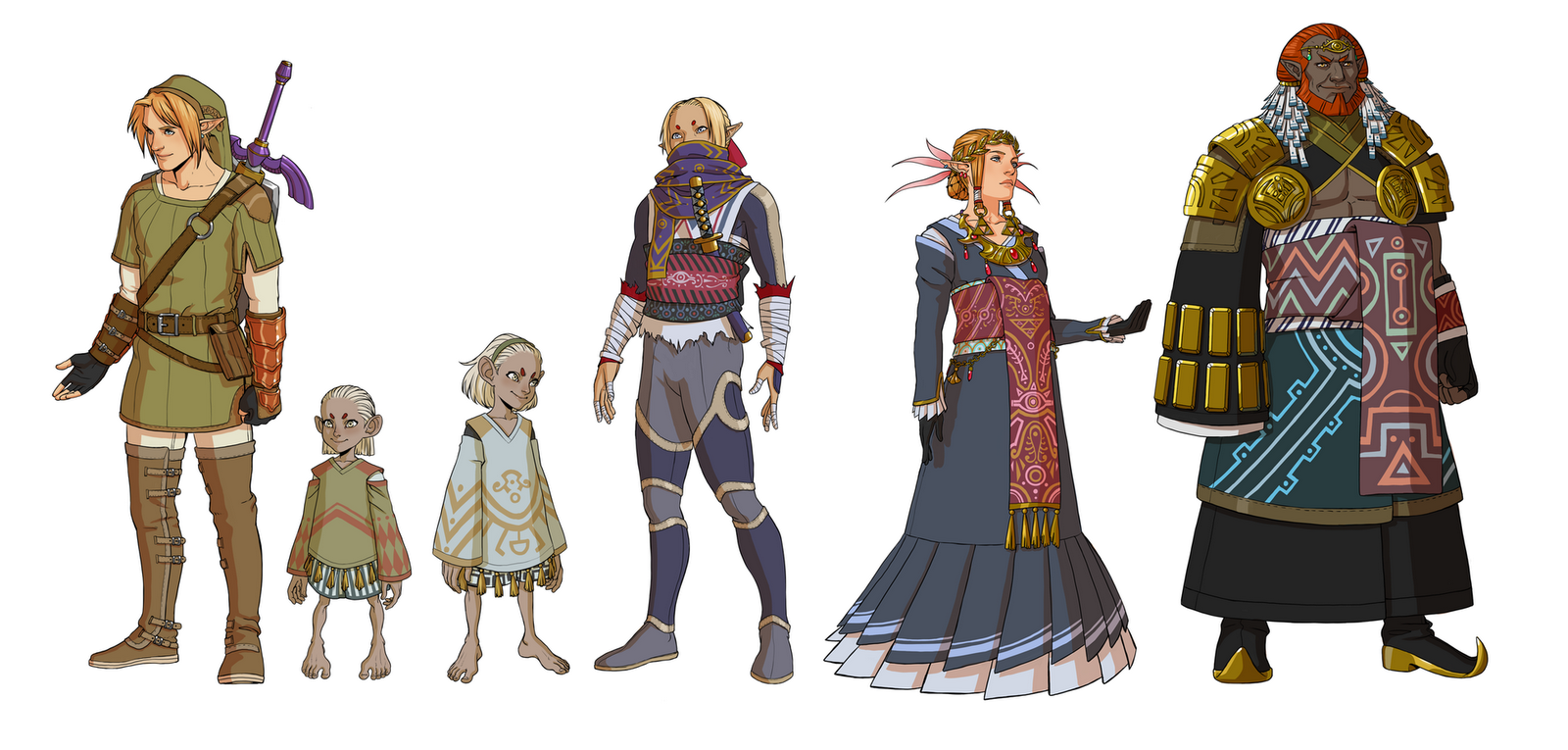 Source  The Legend of Zelda     by  Gerwell  deviantART All Zelda Characters