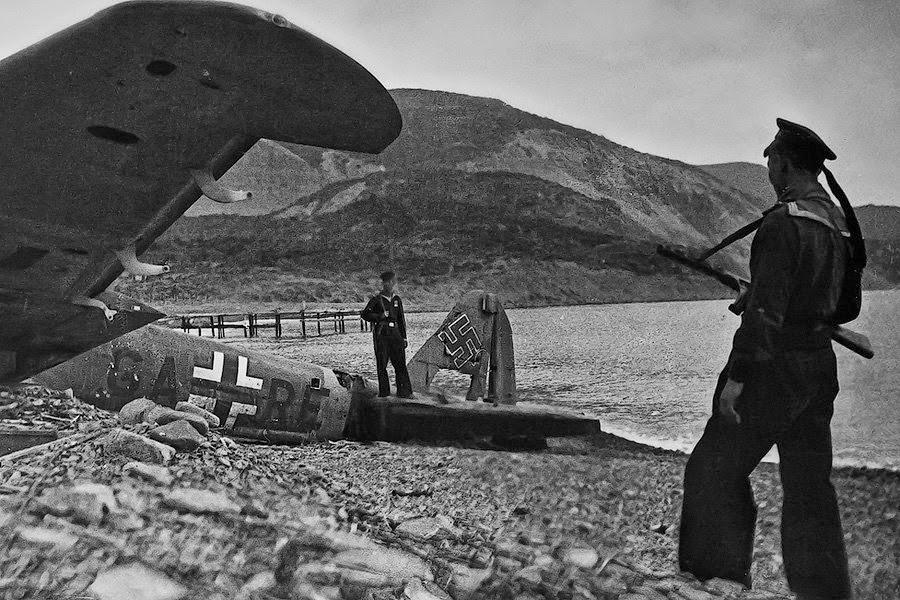 Немецкий сбитый самолет в Крыму