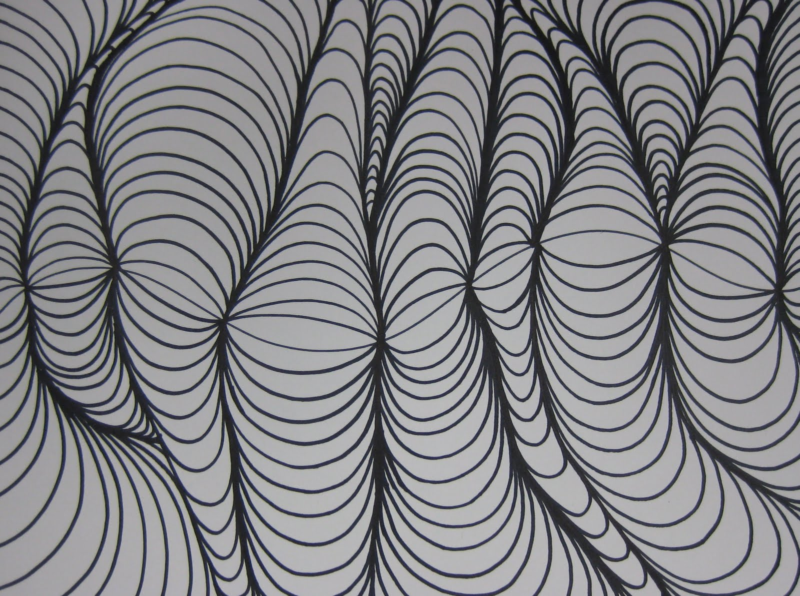 Line Design Art Project : Line designs with shading teachkidsart