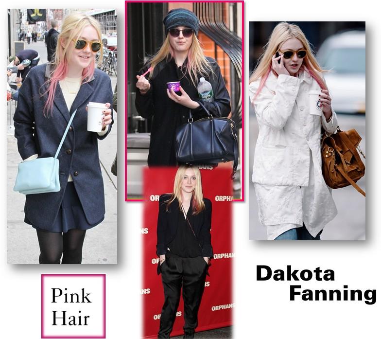 Dakota Fanning pelo rosa