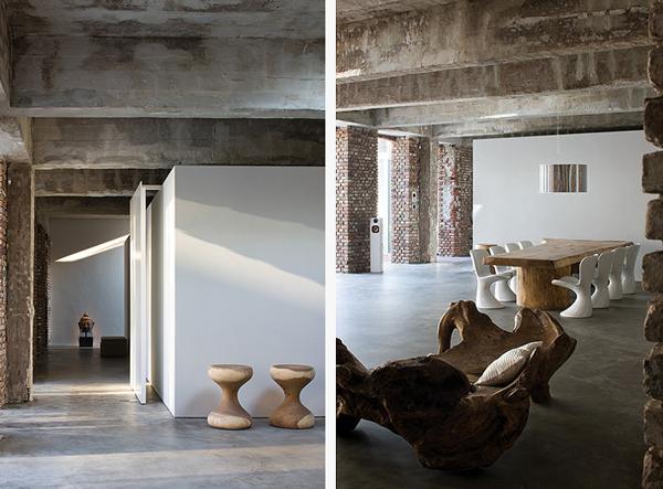 Loft urządzony minimalistycznie