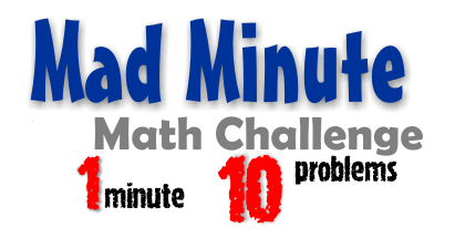 math worksheet : mad math minute worksheets  educational math activities : Mad Minute Math Worksheets