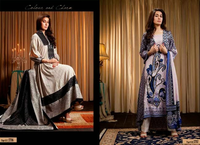 Shariq textiles Latest Khaddar Exclusive Winter Dresses 2013-14 For Girls By Fashion She9