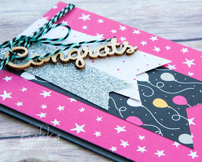 Make In A Moment - It's My Party Congratulations Banner Card.  Get the details here