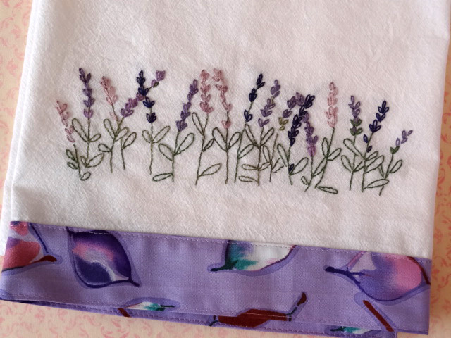 Lavender Hand Embroidery Pattern