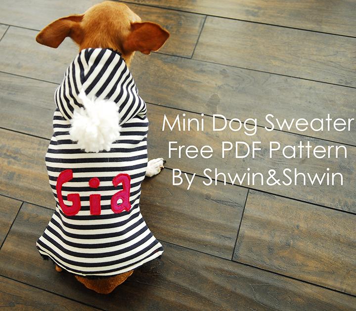 Mini dog sweater free pdf pattern shwin and shwin