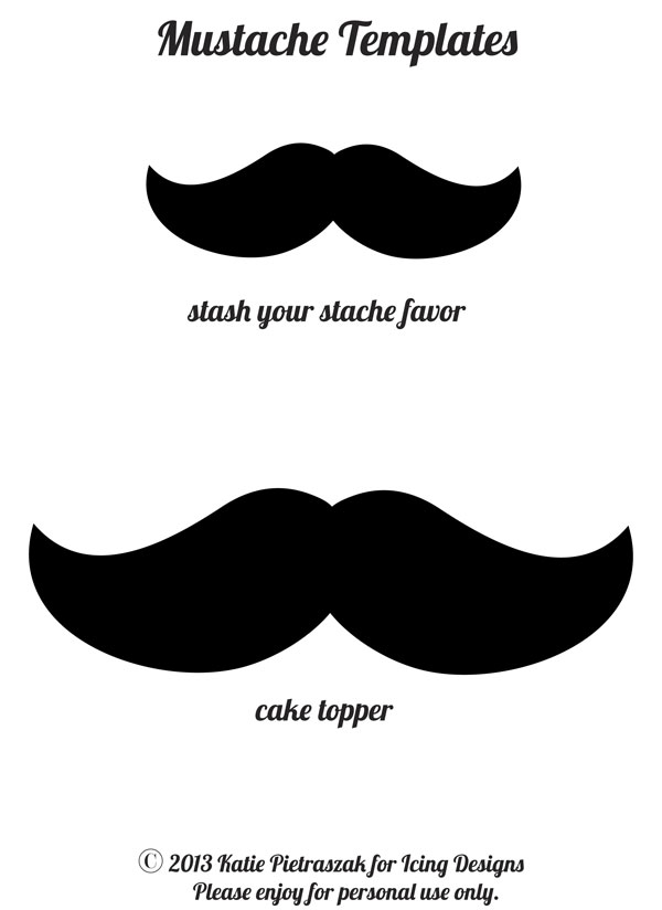 Icing designs diy 39 stash your stache 39 favors for Mustach template