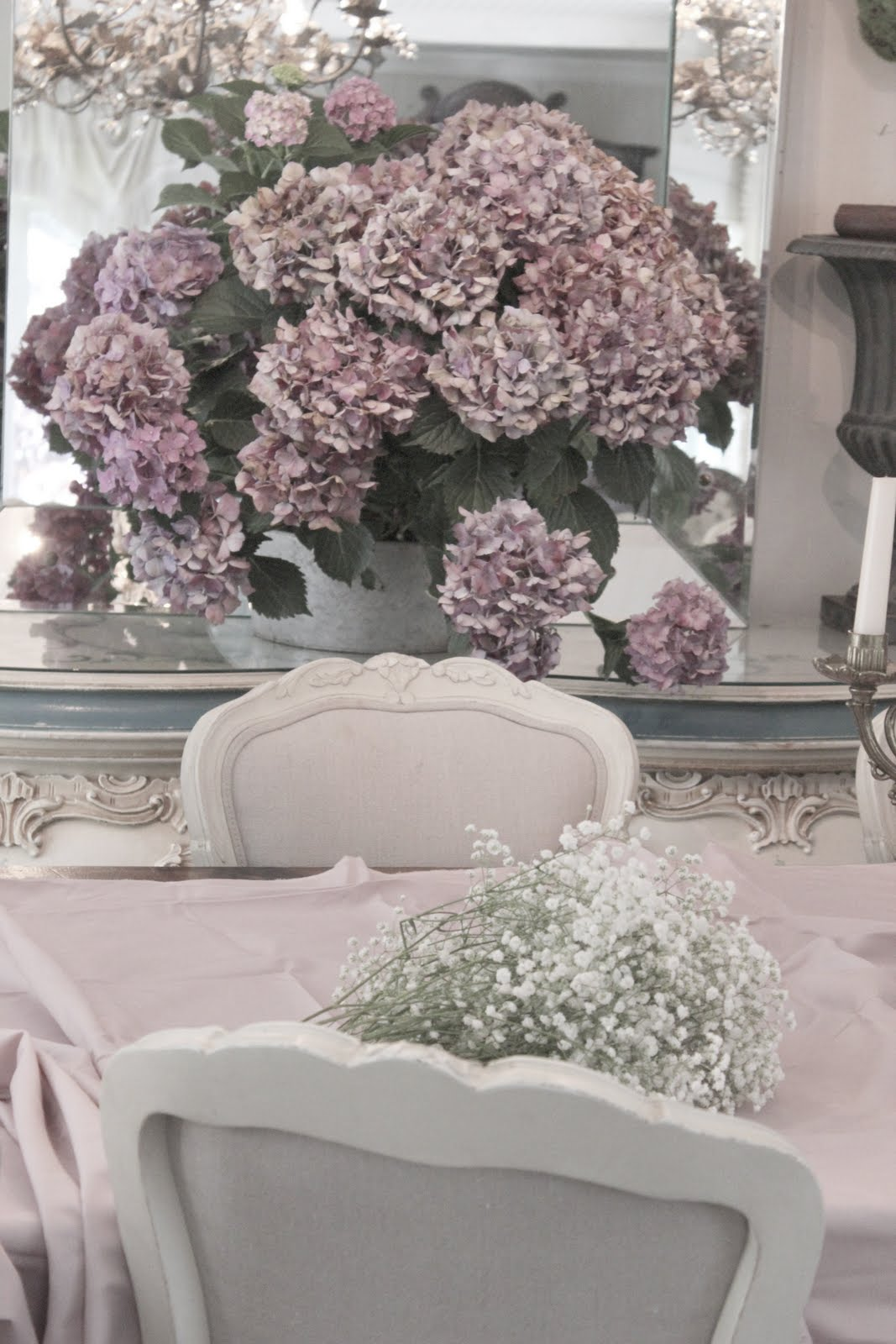 Pretty in pink table french country cottage for Pretty html table