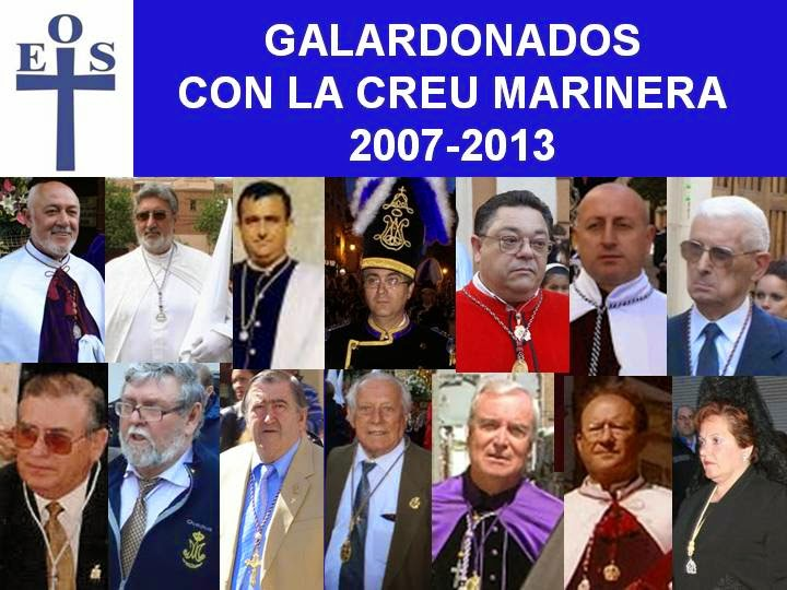 GALARDONADOS CON LA CREU MARINERA DE EOS