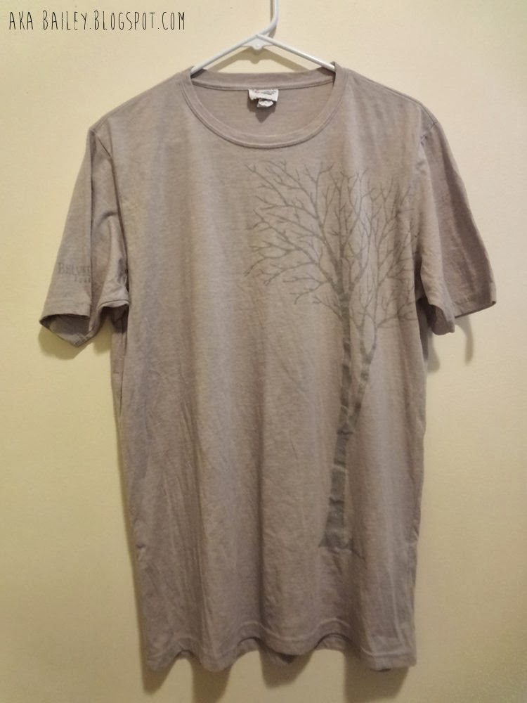 Grey Belvedere Vodka graphic tree t-shirt from Salvation Army