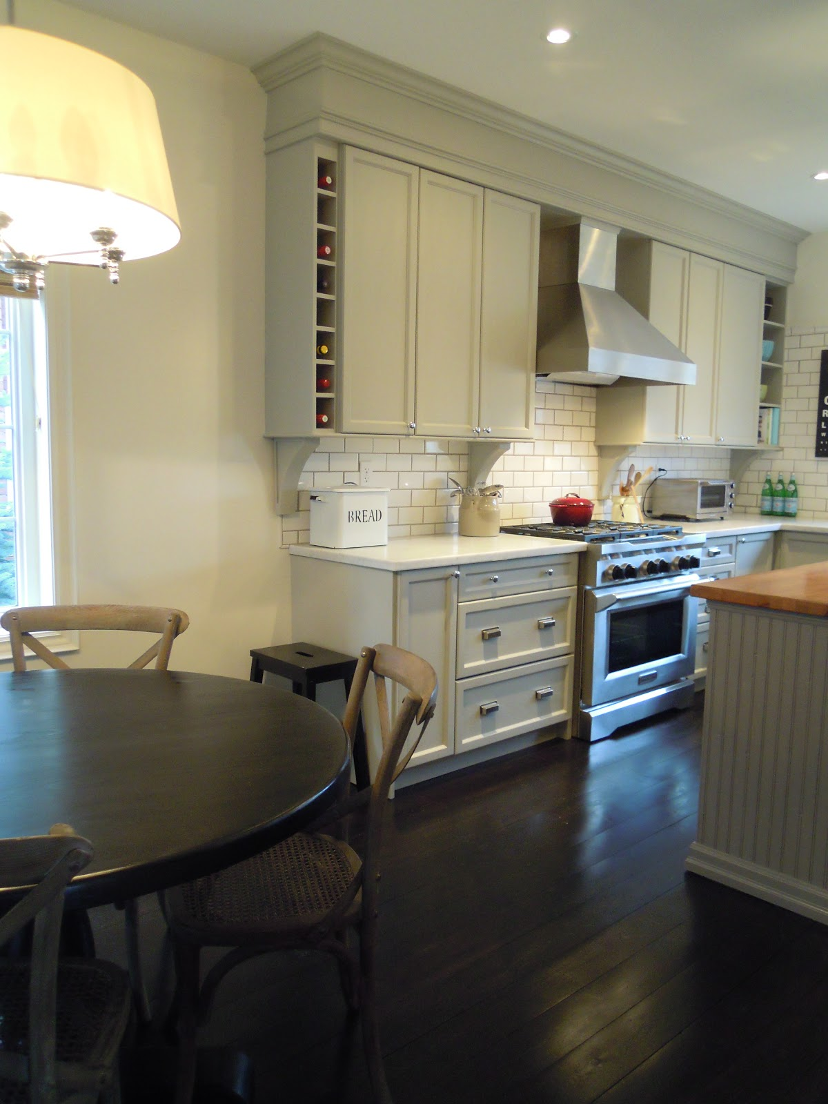 Finally our completed kitchen , from builder basic to dream kitchen