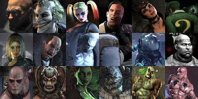 A compilation image of most of the villains that appear in the game.